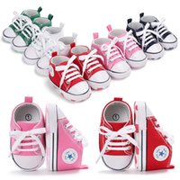 Baby Boys Firs Walkers Fashion Canvas Shoes Infant Lace- UP C...