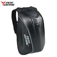 MOTOCENTRIC fibra de carbono bolso de la motocicleta de Moto mochila hombros impermeables reflexivo casco bolso de la motocicleta de carreras de paquete, M-077