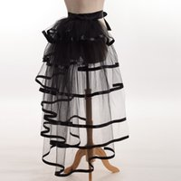 1pc Women Victorian Steampunk Black Bustle Women Tutu Belt L...