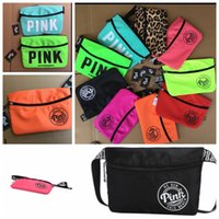 PINK Waist Bag Unisex Fashion Fanny Pack Casual Women Men Be...