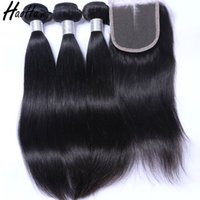 hair bundles with closure 4*4 with frontal 13*4 brazilian vi...