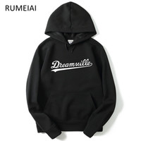 RUMEIAI 2018 New Hoodies Men Hip Hop DREAMVILLE J Cole Logo ...