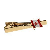 캐나다 국기 클럭 타이 클립