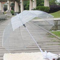 Ясный Милый Пузырь Глубокий Купол Зонтик Сплетница Ветер Сопротивление прозрачный Грибной Зонтик Свадебные Украшения