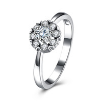Wholesale High Quality 925 Sterling Silver Ring Diamond Simp...