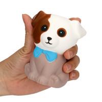 Exprimir perro manchado crema Pan perfumadas lento aumento de los juguetes de los regalos del encanto del teléfono correas lindas y suaves de teléfonos celulares