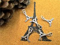 75 adet - Hokey Sopa Charms, Antik Tibet Gümüş 2 Taraflı Hokey charm kolye, spor charm 16x22mm