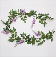 Fleur artificielle pourpre Fleur de vigne timbo Plante décorative en rotin Fleur artificielle Série de fleurs false blossom