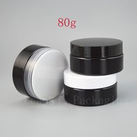 Black Cream Jar With Plastic Screw Cap, Refillable Empty Crea...