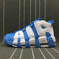 Novedades Zapatillas de baloncesto para hombre Air More Uptempo Wheat Black White Men Shoes GS Online Olympic Blue Men Sneakers Zapatillas de deporte