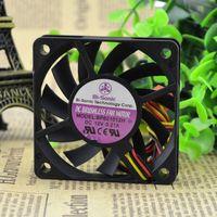 Para BP601012H Nuevo Berry BI-SONIC 12V 0.21A 6CM 6010 Ventilador de enfriamiento de 3 hilos