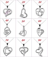 Mother' s Day Necklace Heart With Crystal Pendant Neckla...