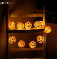ZMHEGW Yeni 1 Takım Kabak 10 LED Dize Işıklar Cadılar Bayramı Dekorasyon Işıkları Sıcak Beyaz Cadılar Bayramı Ev Dekorasyon Aksesua ...