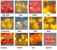 Les canards de dessin animé d'animal de dessin animé de la promotion 1.8M10 LED / de poussin / écureuil / poulpe / cormoran décoratifs ont mené l'éclairage de nuit de lumières de nuit
