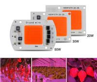 5pcs Hot ac220v réel spectre complet 380-840nm intérieur au lieu de la lumière du soleil puissance réelle 20w 30w 50W DIY conduit élèvent la puce de lumière pour les plantes