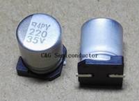 100 sztuk 35V 220uf 8 * 10 mm SMD Controlnik aluminiowy, kondensator elektrolityczny 220uf35v 8x10mm