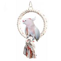 Giocattoli dell'animale domestico dell'animale domestico Corda rotonda dei giocattoli dei pappagalli della corda del cotone dell'anello dell'anello rotondo dell'anello