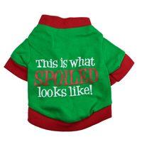 Nueva Arrrival 8pcs / lot camisa del perro de perrito del gato camisas lisas para perros pequeños Diseñado para el perro viste la Navidad libera el envío