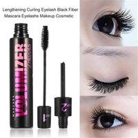 2 in 1 Lengthening Curling Eyelash Black Fiber Mascara Eyela...
