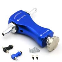 Universal ajustable Boost-Tee Manual Boost controlador turbocompresor negro / azul de color con el logotipo original