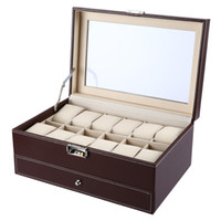 Multifunctional Drawer- style PU Leather Watch Display Box