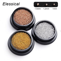 Elessical Rose Or Argent Cuivre Caviar Micro Nail Beads multiformats ongles Glitter Accessoires Nail Art Décorations manucure outil