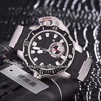 싼 새로운 46mm 맥시 해양 다이버 3203-500LE-3 / 93 망치 검은 색 다이얼 자동 망 시계 실버 케이스 고무 스트랩 스포츠 Getns 시계