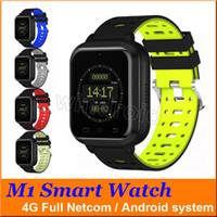 M1 4G Full Netcom sbloccato Smart Watch 1.54 HD Schermo TFT Bluetooth Android 6.0 MTK6737 Quad Core 1GB 8GB Sistema Android Scheda frequenza cardiaca Android