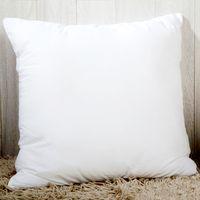Personalizada transferencia térmica sublimación funda de almohada blanca en blanco Throw Pillow Cover 40 * 40cm almohada poliéster almohada cubierta forma cuadrada del corazón