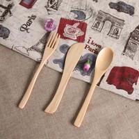 Coltello di legno creativo Forchetta cucchiaio Set di articoli per la tavola in legno regalo Set di sicurezza non tossico cucchiaio forchetta coltello
