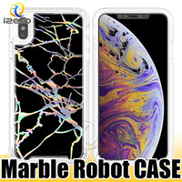 Laser marmor roboter case für iphone xs max xr x 8 7 6 s plus galaxy note 9 s9 s9 plus mode glänzende telefon shell
