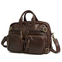 Genuine Leather Briefcases Men Handbag Natural Real Cowhide ...