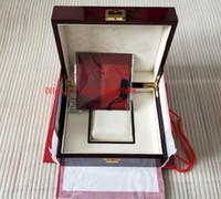 الأزياء الفاخرة ووتش الأصلي نوتيلوس مربع أحمر مربع أوراق صناديق الخشب حقيبة يد ل 5980/1A-019 صناديق الساعات كتيب بطاقة هدية للرجال النساء