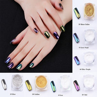 7 color Metal Nail Art Tip Decoration Pigment Glitters Dust ...