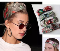100% Silk Front Knotted Headband Fashion Luxury Brand Bloom ...