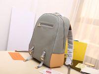 erkekler # M43881 için mens hakiki deri sırt çantaları 31-46-26cm kılıf baskılı Sırt Stil Omuz Çantaları için tasarım defile sırt çantaları