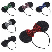 European and American new sequins big bow hair accessories b...