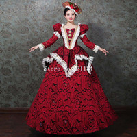 Princess Red Gown Women Masquerade Dresses Marie Antoinette ...