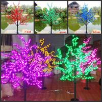 LED de Navidad árbol de la flor de luz 480pcs bombillas LED de 1,5 m Altura 110 / 220V 7 colores para la opción de uso al aire libre a prueba de lluvia