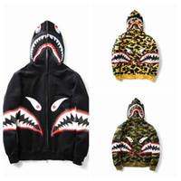 Wholesale autumn and winter new shark Hoodies Hip Hop male h...