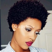 Human Hair Wigs Malayslian Afro Kinky Curly Lace Front Wigs ...