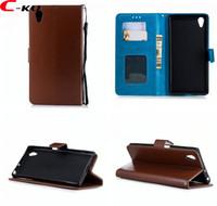 Portefeuille en cuir pour Sony Xperia XA1 Plus L2 L1 XA2 XZ1 Mini XZ2 Ultra XZ Premium LG K8 Crazy Horse Photo ID Couverture de support