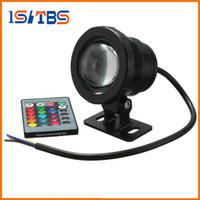 الجملة 10W RGB LED ضوء تحت الماء للماء IP68 نافورة حمام سباحة مصباح 16 تغيير ملون مع 24Key IR عن بعد