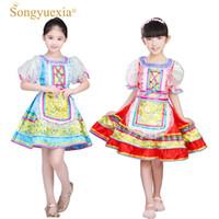 Songyuexia Russian National Desempenho Trajes para Crianças Dança Folclórica Chinesa Vestido para Meninas Dança Moderna Princesa Vestido
