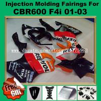 Kits de carenado por inyección F4i para HONDA CBR600F4i CBR600RR F4i 01 02 03 CBR 600 F4i CBR 600F4i 2001 2002 2003 Kit de carenado para el cuerpo # 722P-4