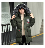 New Teen Boys Winter Coat Hooded Children Patchwork Down Bab...