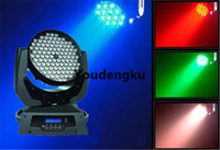 2 adet Promosyon 108x3w RGBW Başkanı Işık Yıkama ışık led hareketli Hareketli led
