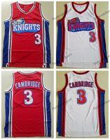 رجل 2002 Moive مثل مايك La Los Los Angeles Knights Cambridges كرة السلة الفانيلة المنزل الأحمر الأبيض 3 كامبيدات مخيط قميص S-XXL