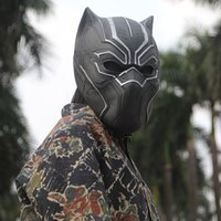 Avengers Super Hero Black Panther Masks Cosplay Costumes Hal...
