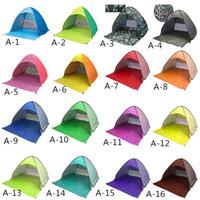 Автоматические портативные всплывающие палатки для 2-3 человек на открытом воздухе Туризм Отдых на природе Солнечная тень Тент Пляжные укрытия Защита от ультрафиолетового излучения Многоцветный